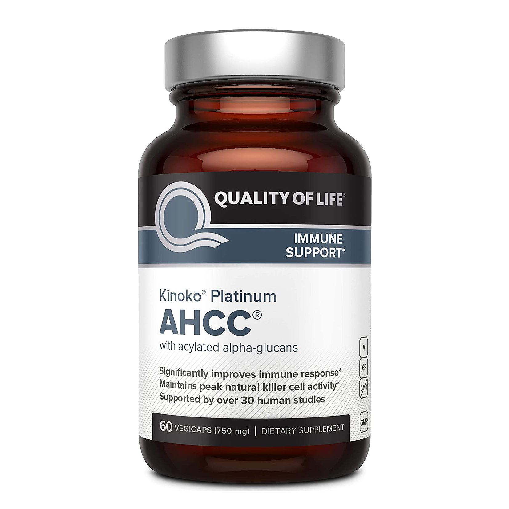 Quality of Life Kinoko Platinum AHCC Supplement