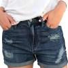 luvamia Ripped Denim Jean Shorts