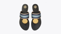 Patos Striped Disk Sandal
