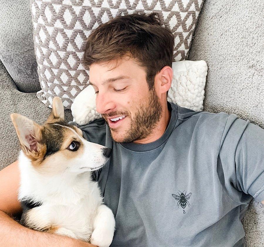 Garrett Yrigoyen and Minno the puppy Becca Kufrin and Garrett Yrigoyen Relationship Timeline