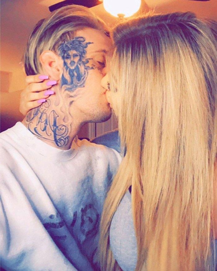 Aaron Carter Reveals On-Off Girlfriend Melanie Martin Suffered a Miscarriage Instagram Kiss