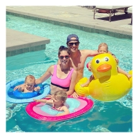 Abby Huntsman Jeffrey Livingston Pool Day Isabel, Ruby and William Livingston