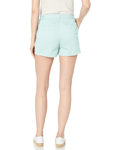 Amazon Essentials Women's 3.5 Inseam Chino Short (Pale Aqua)
