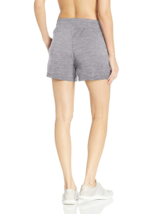 Amazon Essentials Women's Brushed Tech Stretch Short (Grey Space Dye)
