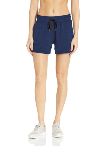 Amazon Essentials Women's Brushed Tech Stretch Short (Navy Space Dye)