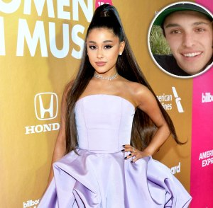 Ariana Grande Gets a Kiss From BF Dalton at Her Midsommar B-Day Party