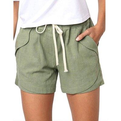 BLENCOT Women's Drawstring Elastic Waist Beach Shorts