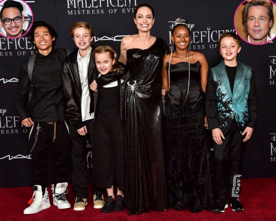 See Brad Pitt Angelina Jolie Family Album Pics With 6 Kids
