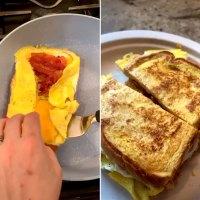 Trendy TikTok Foods Bread Omelette