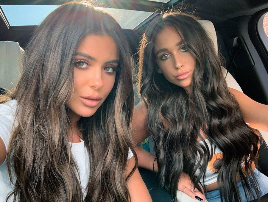 Ariana and Brielle Biermann Look Like Twins With Brunette Waves