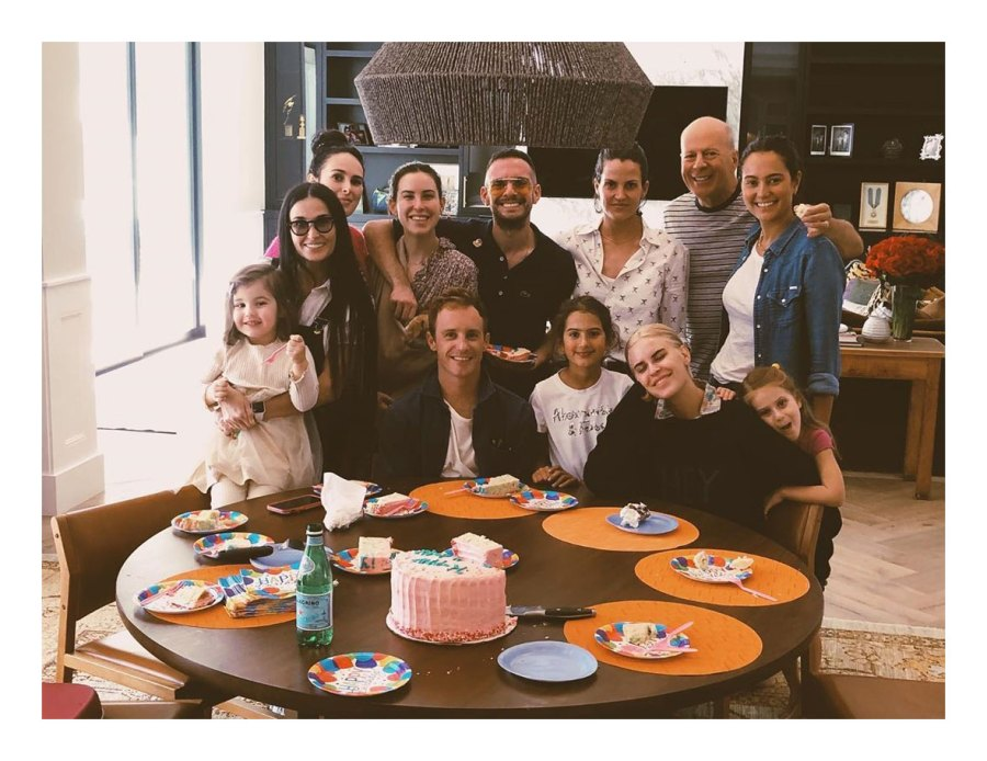 Bruce Willis Demi Moore Instagram Celebrate Fathers Day Food