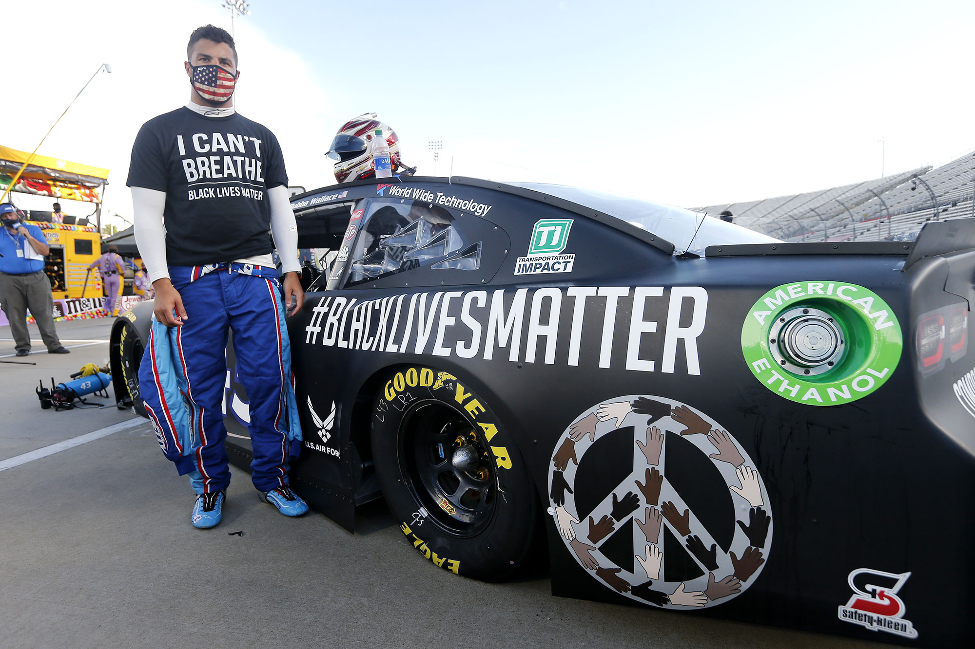 Bubba Wallace NASCAR Speaks Out Racism BLM Black Lives Matter Car