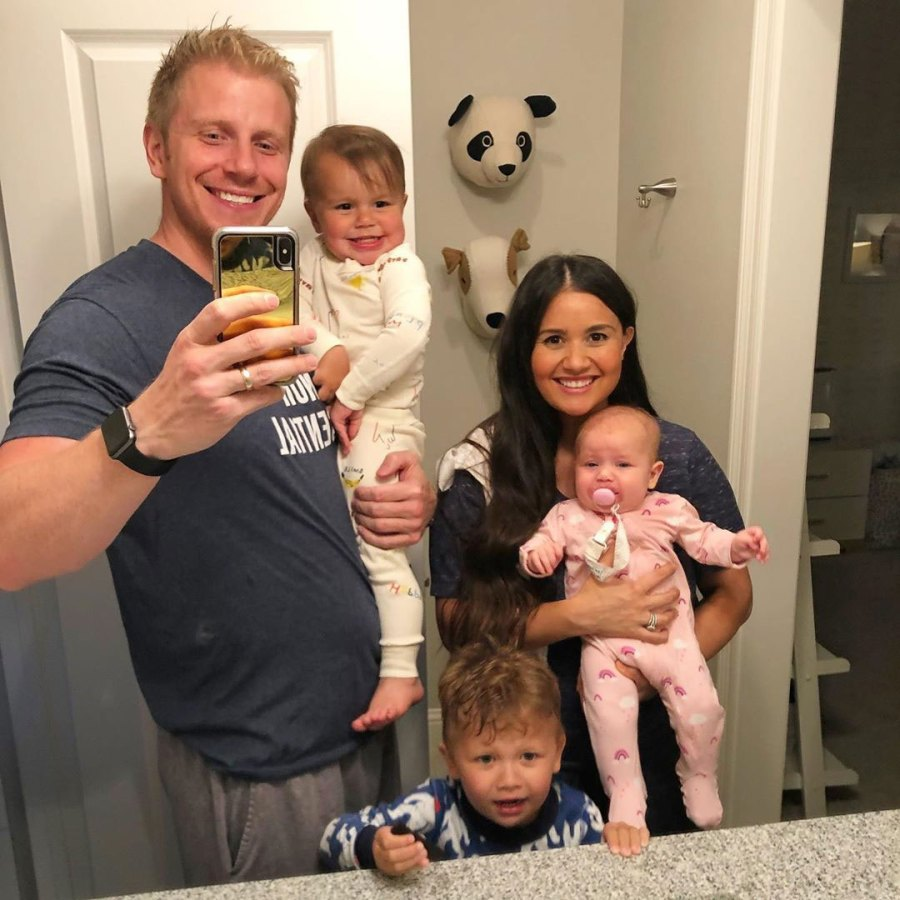 Catherine Giudici Daughter Mia Throws Up on Her Mouth Instagram Spit Up Sean Lowe Family Instagram