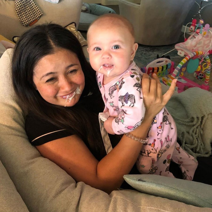 Catherine Giudici Daughter Mia Throws Up on Her Mouth Instagram Spit Up