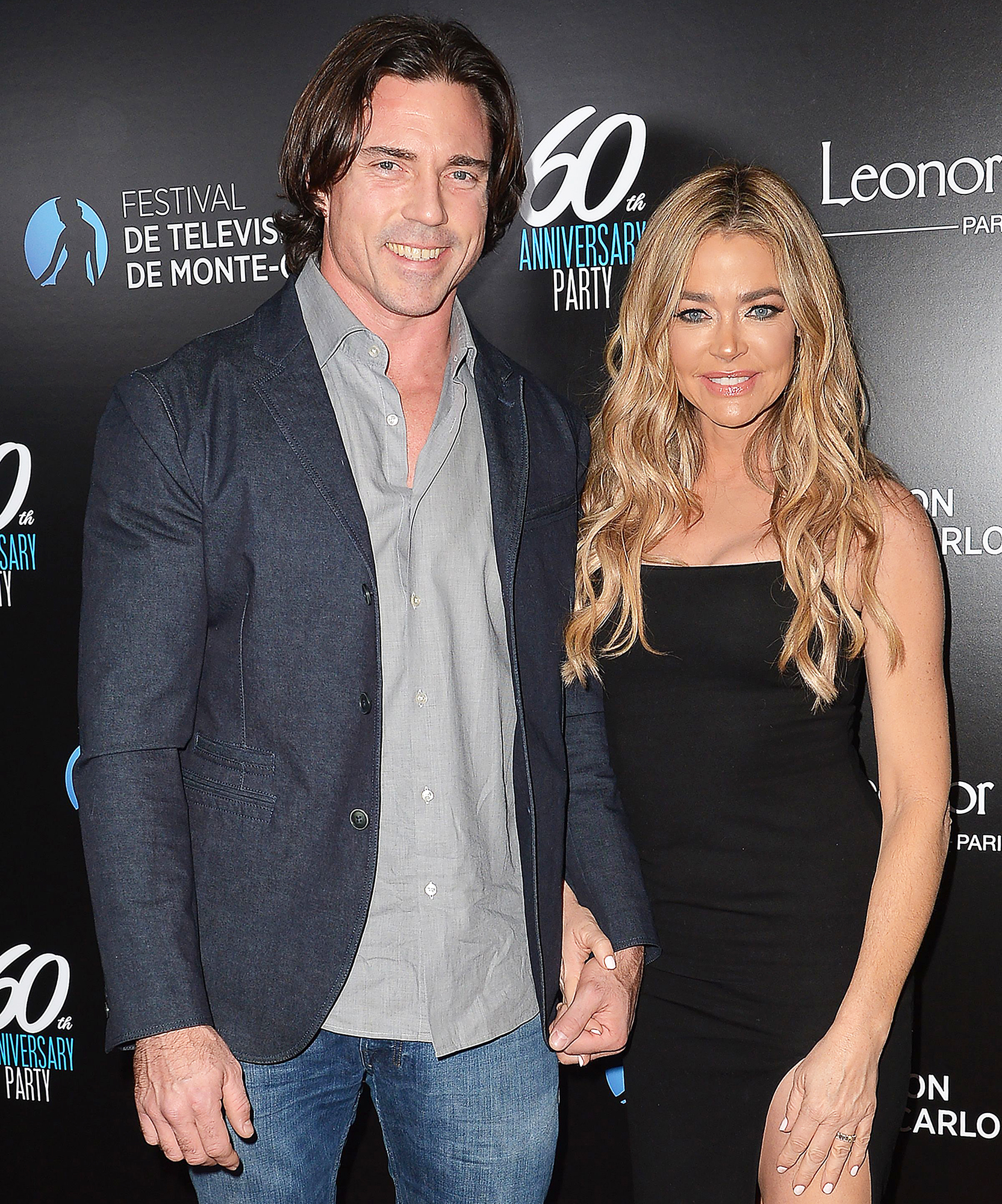 Aaron Phypers and Denise Richards attend the Monte-Carlo Television Festival party Denise Richards Daughter Eloise Learns How to Say Dad Just Before Fathers Day