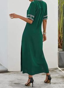 GOSOPIN Women's Summer Cover Up Kaftan Dress (Green)