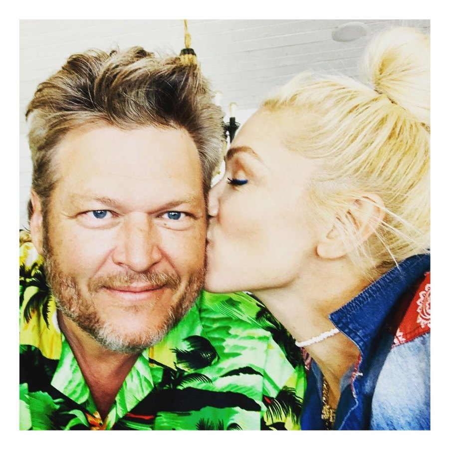 Gwen Stefani Shares Kissing Photo to Celebrate Blake Shelton Birthday