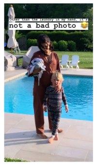 Hilaria Thomas Baldwin Instagram Baby Bump Pool