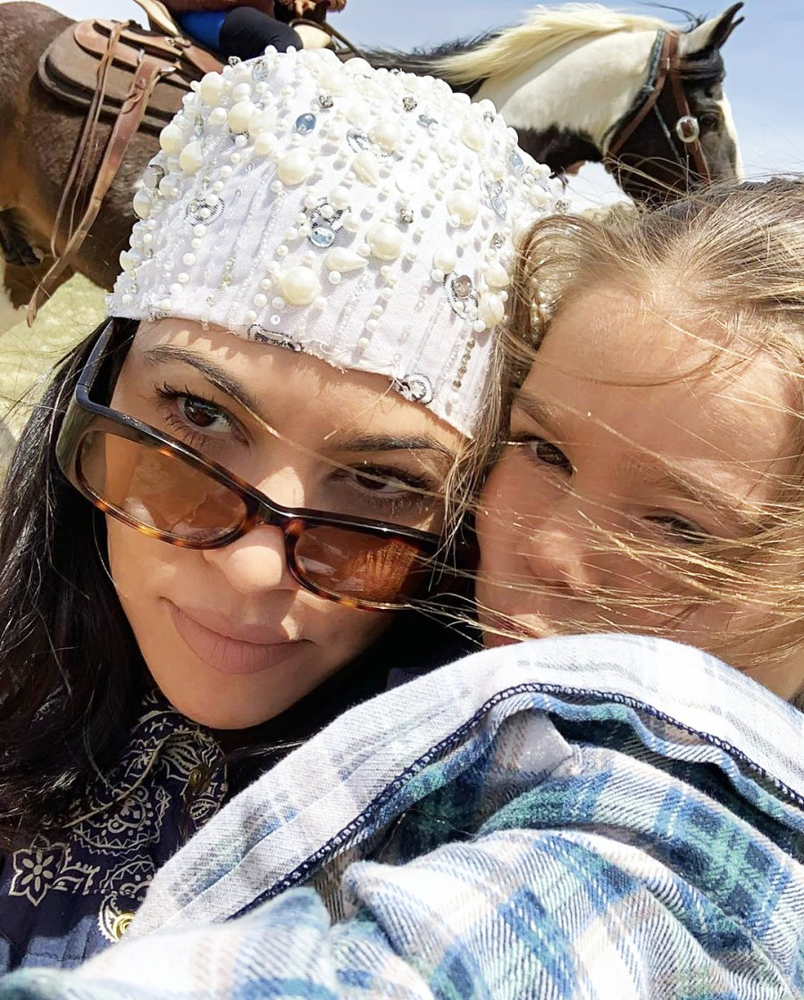 Kourtney Kardashian and Reign Disick selfie Inside the Kardashian-Jenner Family Wyoming Trip
