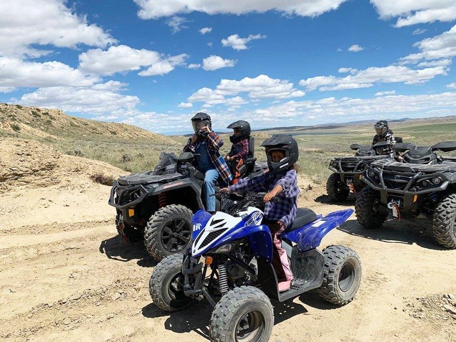 Riding ATVs Inside the Kardashian-Jenner Family Wyoming Trip