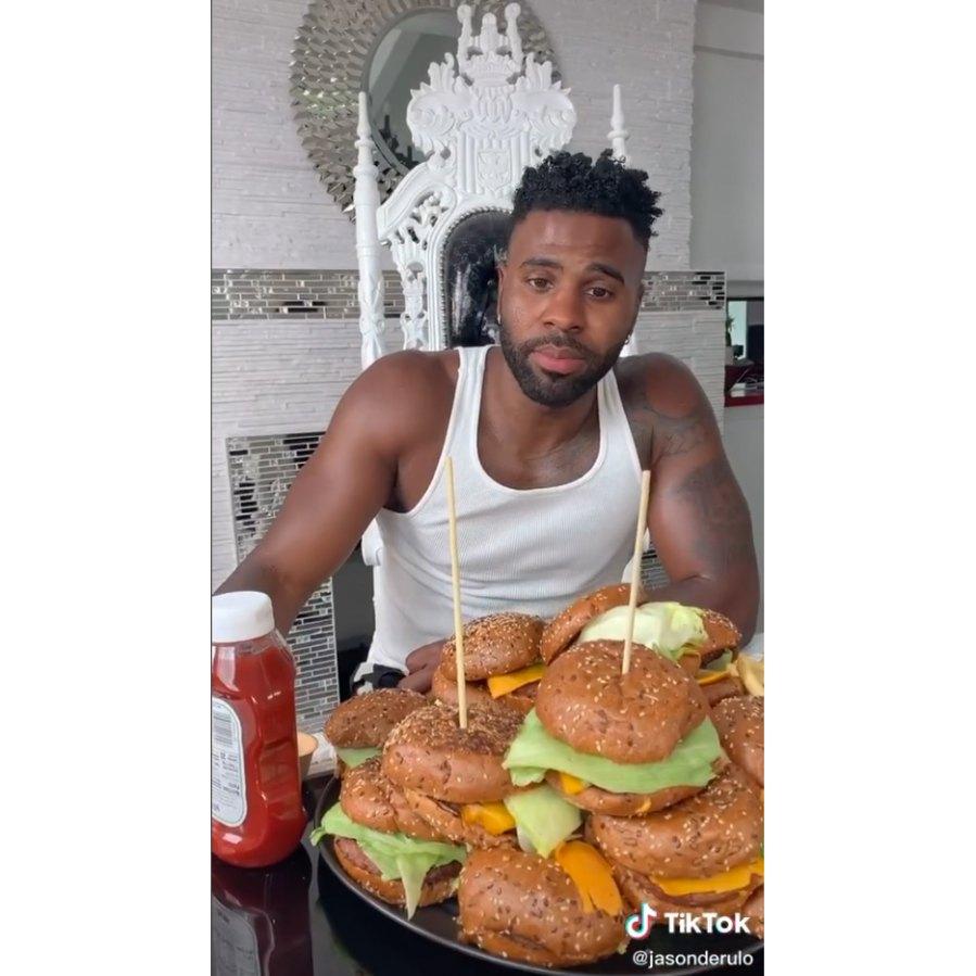 Jason Derulo hamburger challenge