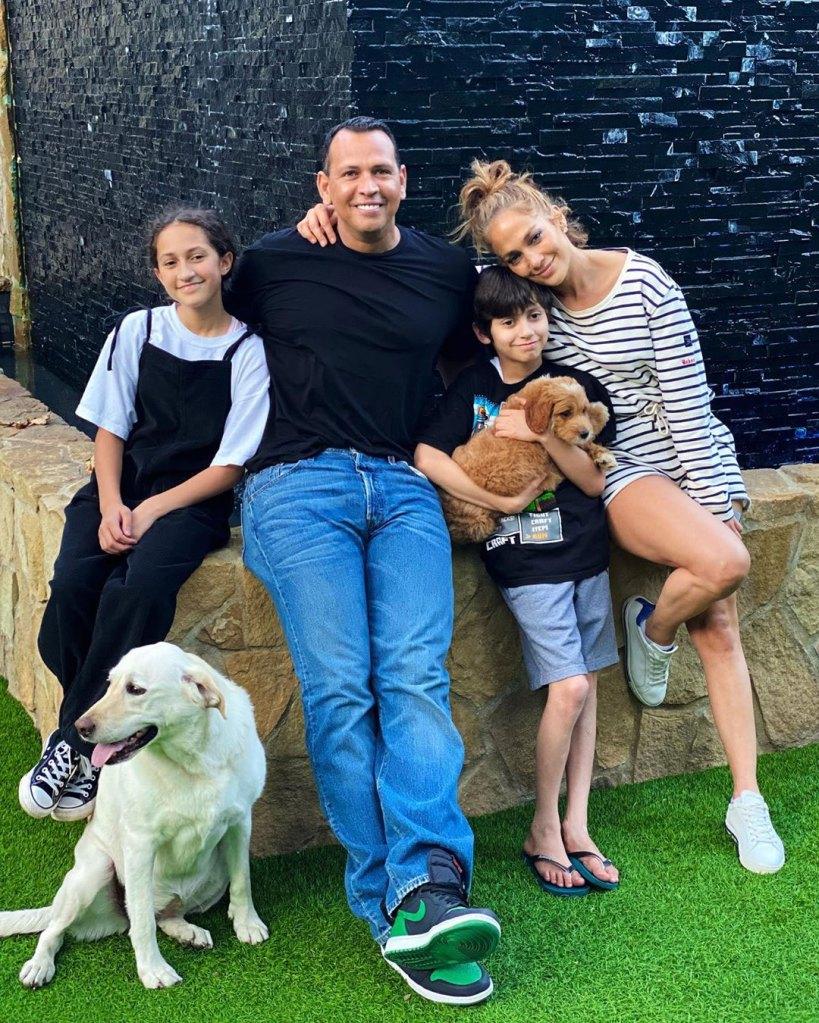 Jennifer Lopez Surprises Son Max With Cute New Puppy Alex Rodriguez Instagram