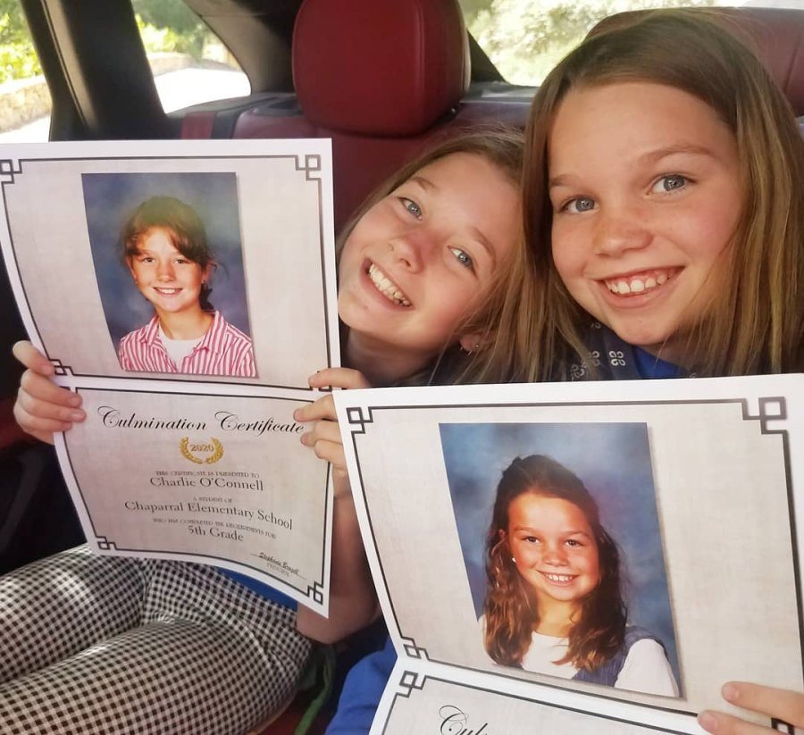 Jerry O'Connell and Rebecca Romijn daughters graduation 2020