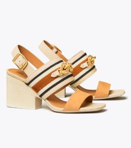Jessa Block Heel Sandal (Dulce De Leche)
