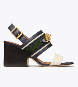 Jessa Block Heel Sandal (Perfect Navy)