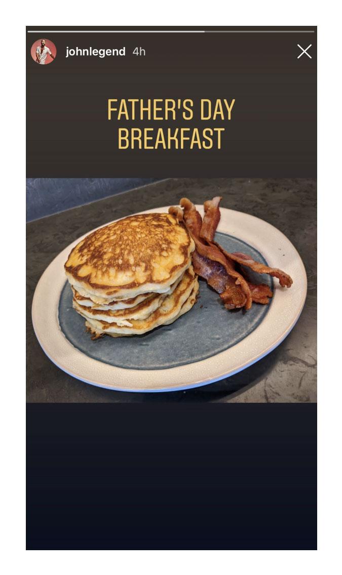 John Legend Instagram Celebrate Fathers Day Food
