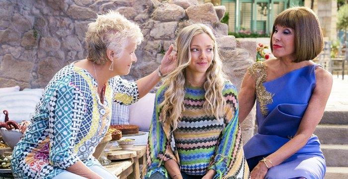 Julie Walters Amanda Seyfried and Christine Baranski in Mamma Mia Here We Go Again