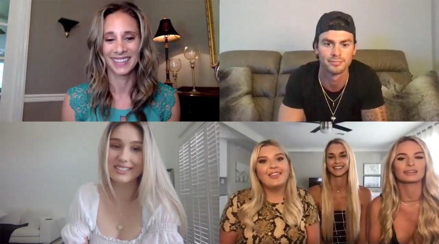 Garret, Madison, Chloe, Kesley, and Juliette Siesta Key Us Weekly Interview