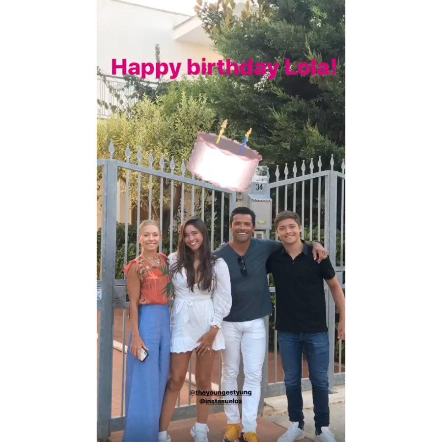 Kelly Ripa celebrates Lola Birthday quarantine