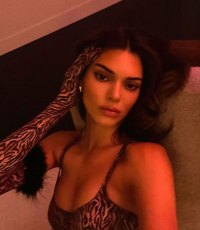 Kendall Jenner Wears Upcoming Kendall x Kylie Makeup and 'Not Much Else' in a Series of Steamy Snap