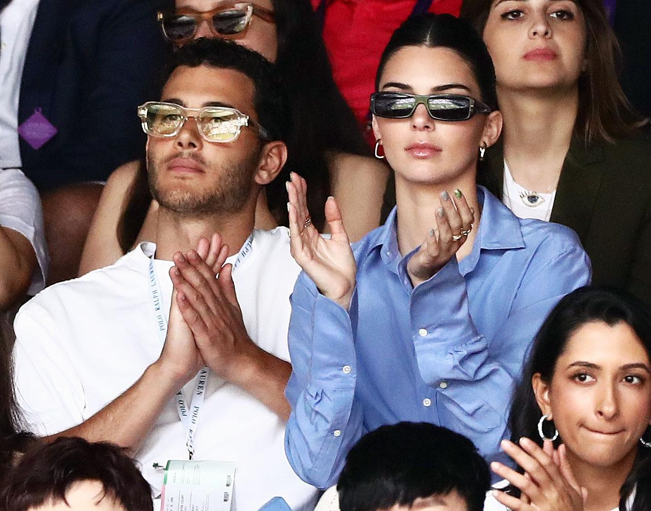 Fai Khadra and Kendall Jenner at Wimbledon