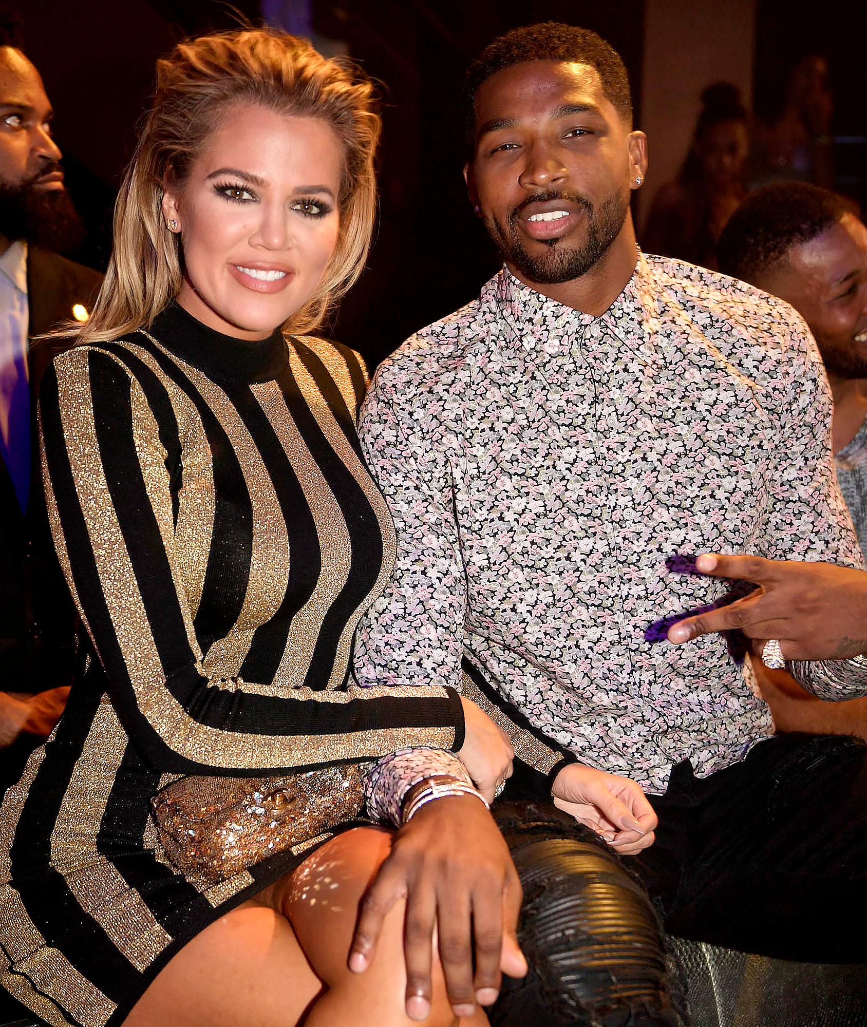 Khloe Kardashian and Tristan Thompson Look Awfully Cozy at Friend Birthday Party 2