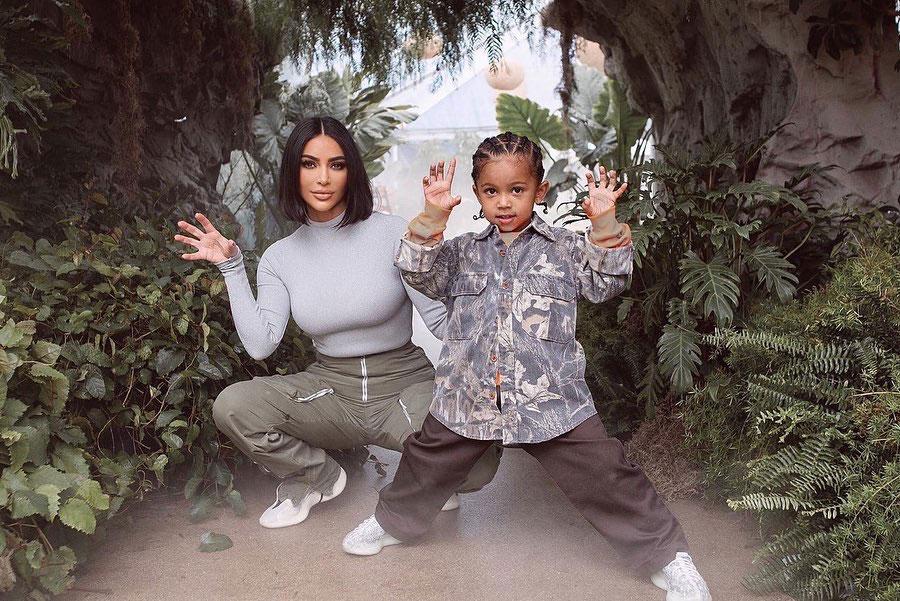 Kim Kardashian Reacts to Son Saint Saying She Buys Him Things