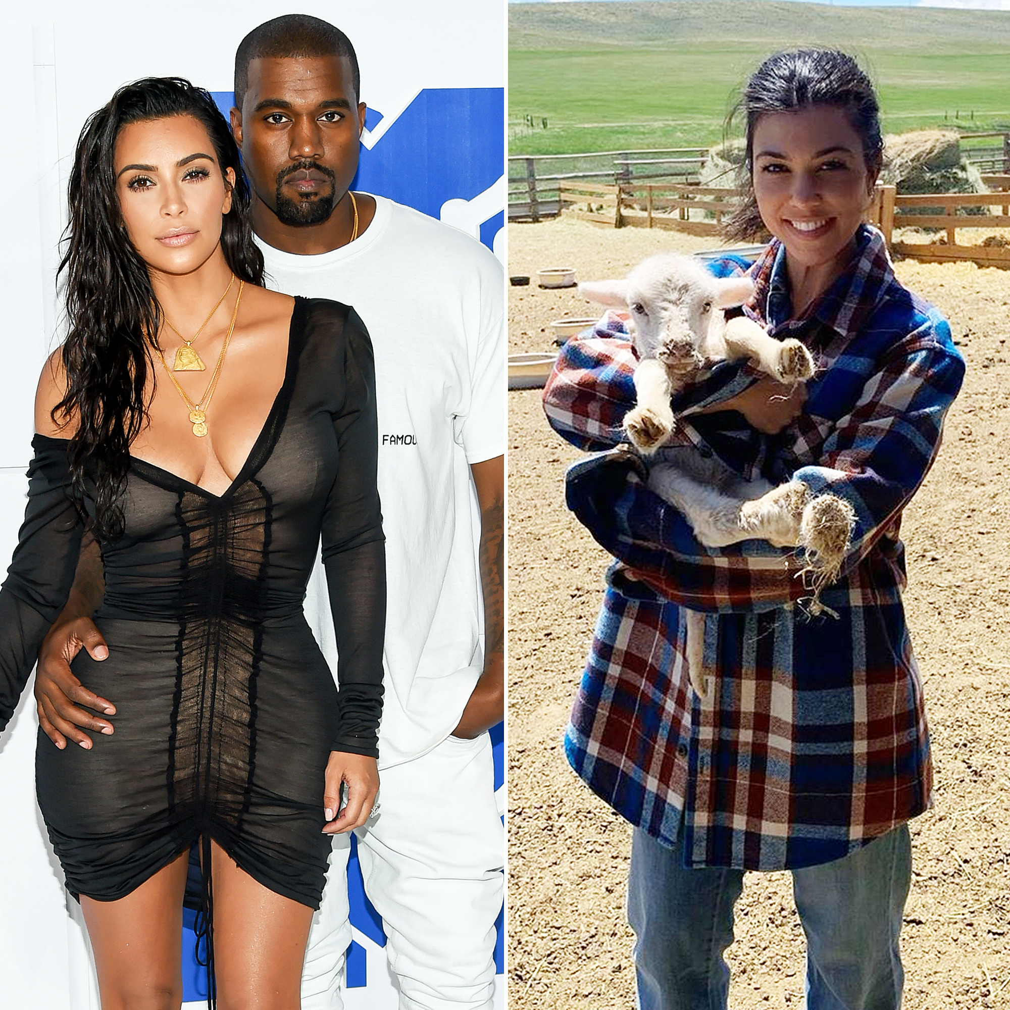Kim Kardashian and Kanye West Are in Wyoming With Kourtney Kardashian and Extended Family