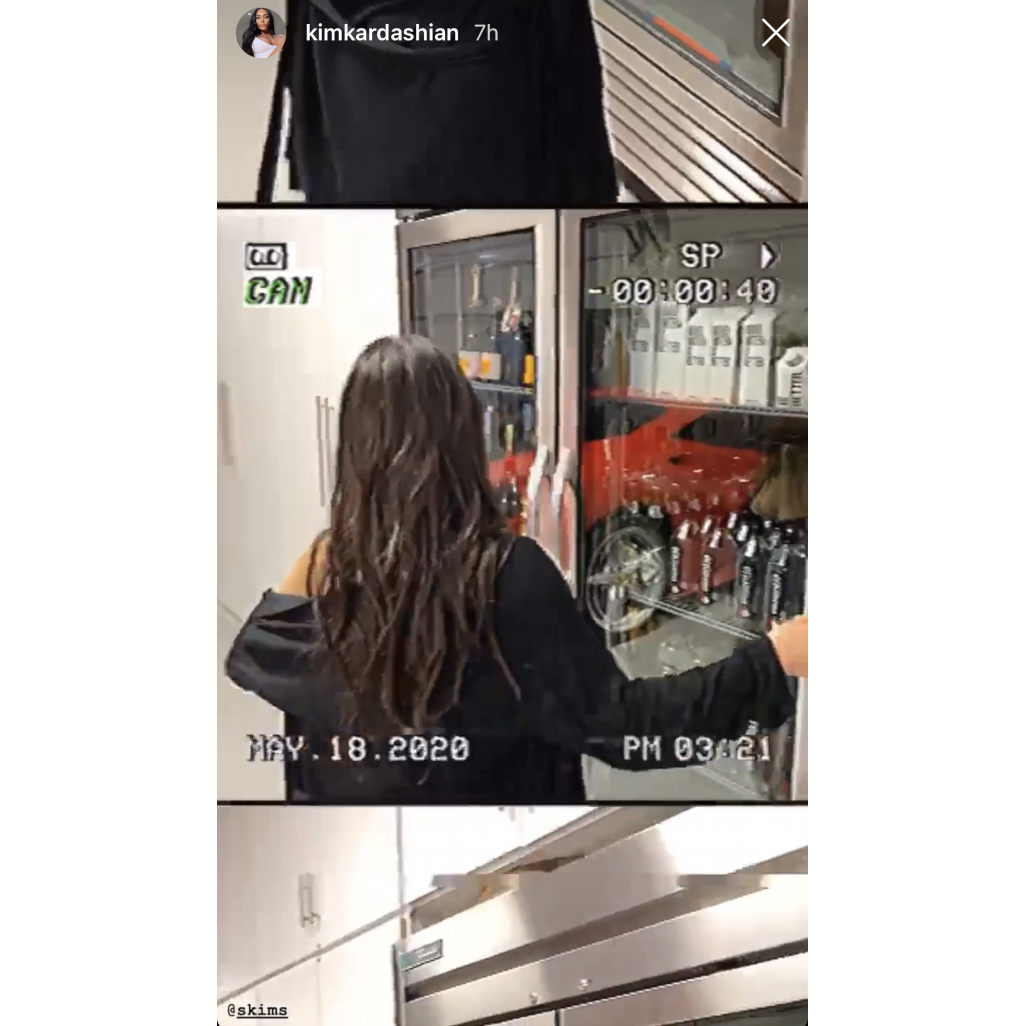 Kim Kardashian champagne fridge garage