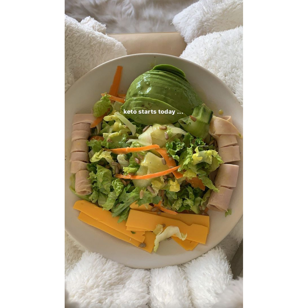 Kourtney Kardashian Keto Salad