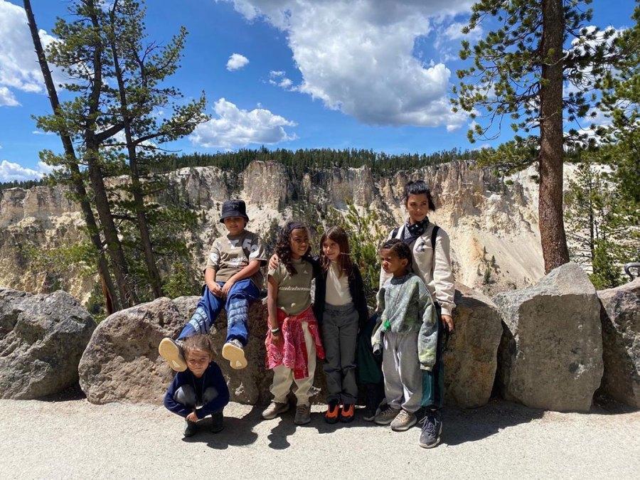 Kourtney Kardashian with children
