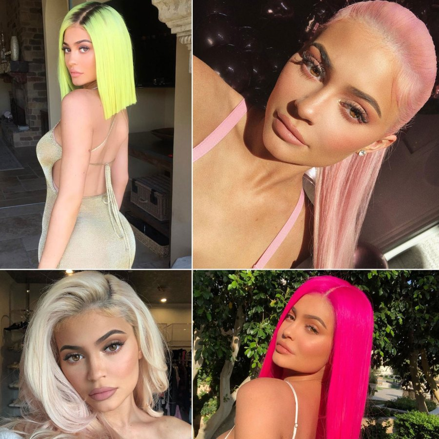 Kylie Jenner Boldest Hair Colors