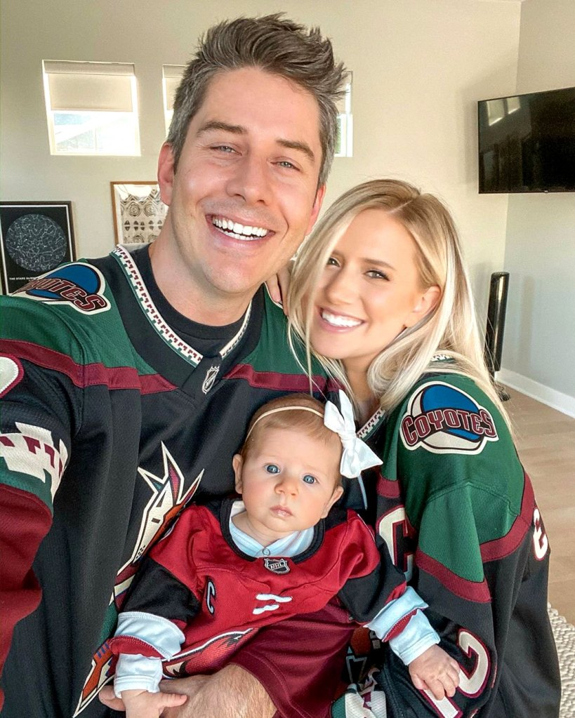 Lauren Burnham Opens Up About Why She and Arie Luyendyk Jr Were Open About Miscarriage Instagram Alessi Ren Luyendyk Arizona Coyotes