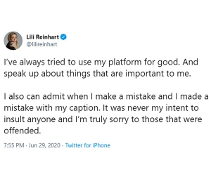 Lili Reinhart Apologizes Posing Topless Honor Breonna Taylor