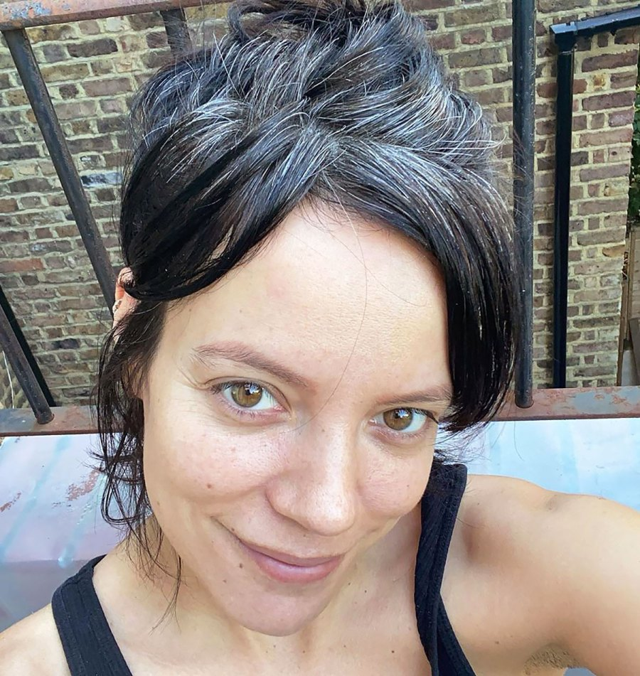 The Internet Is Obsessed With Lily Allen's Natural Grays