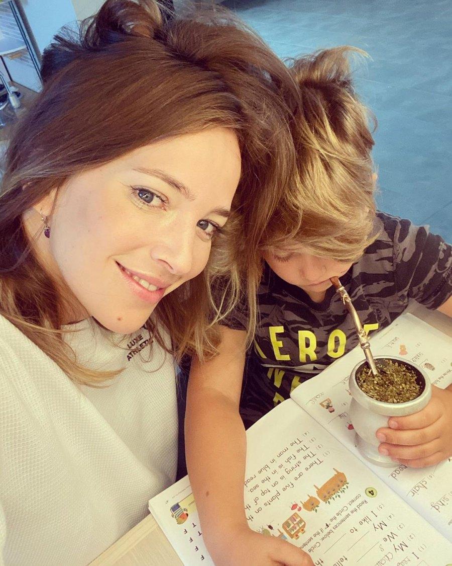 Luisana Lopilato homeschooling