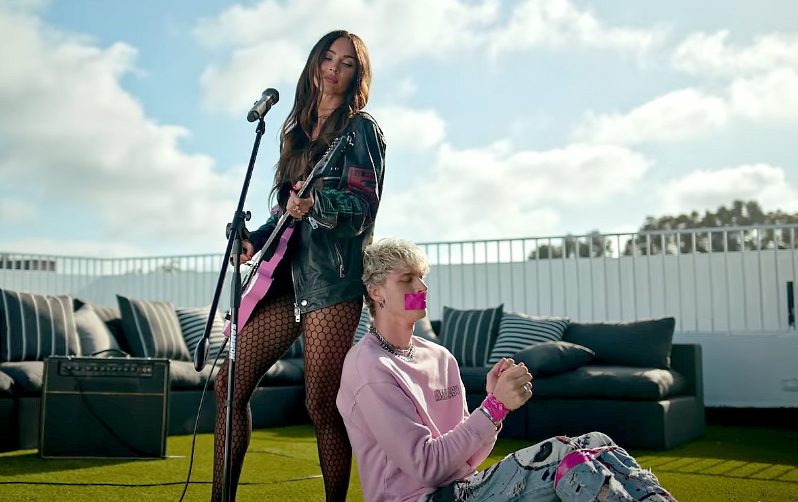 Machine Gun Kelly Gets Flustered When Asked About Filming Steamy Megan Fox Music Video 1