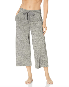 Mae Women's Loungewear Supersoft French Terry Cropped Pant (Heather Grey)