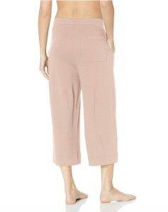 Mae Women's Loungewear Supersoft French Terry Cropped Pant (Rose Pink)