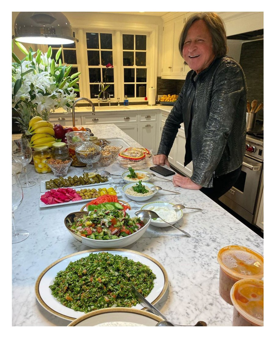 Mohamed Hadid Gigi Hadid Instagram Celebrate Fathers Day Food